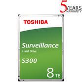 "Toshiba 8TB S300 Surveillance Internal Hard Drive Bulk | 3.5"" | Storage | 7200 RPM"