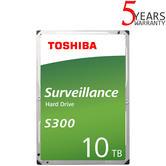 "Toshiba 10TB S300 Surveillance Internal Hard Drive Bulk | 3.5"" | Storage | 7200 RPM"