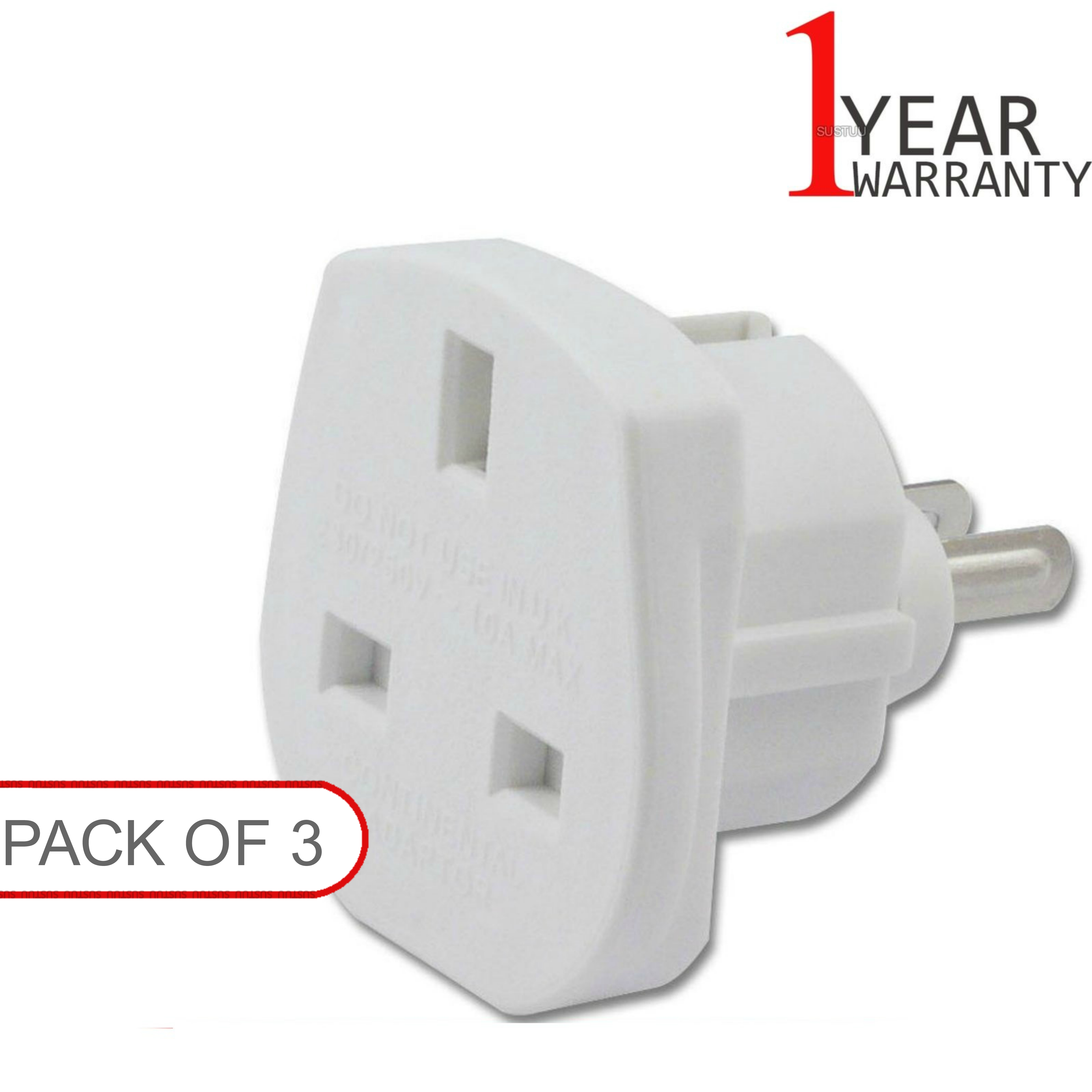 3 x UK TO USA US AMERICA /CANADA / AUSTRALIA / NEW ZEALAND TRAVEL PLUG ADAPTOR