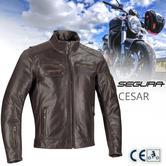 Segura Cesar Motorcycle/Bike Mens Leather Jacket | CE Approved / Waterproof | Brown