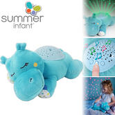 Summer Infant Slumber Buddies Classic Harley the Hippo | Night Light With Sound | 0m+