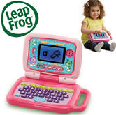 Leap Frog 2-in-1 LeapTop Touch Laptop Pink | Learn Number, letters & Animal Facts | +2Years