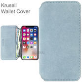 Krusell Broby 4 Card SlimWallet Case | Protective Flip Cover | For iPhone XR | Blue