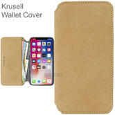 Krusell Broby 4 Card SlimWallet Case | Protective Flip Cover | For iPhone XR | Vintage Brown