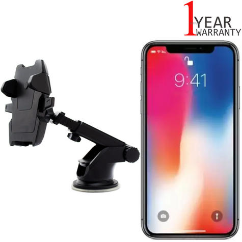 Universal In Car Dash Mount | Windscreen Holder+Long Neck | For iPhone XS-XS Max-XR Thumbnail 1