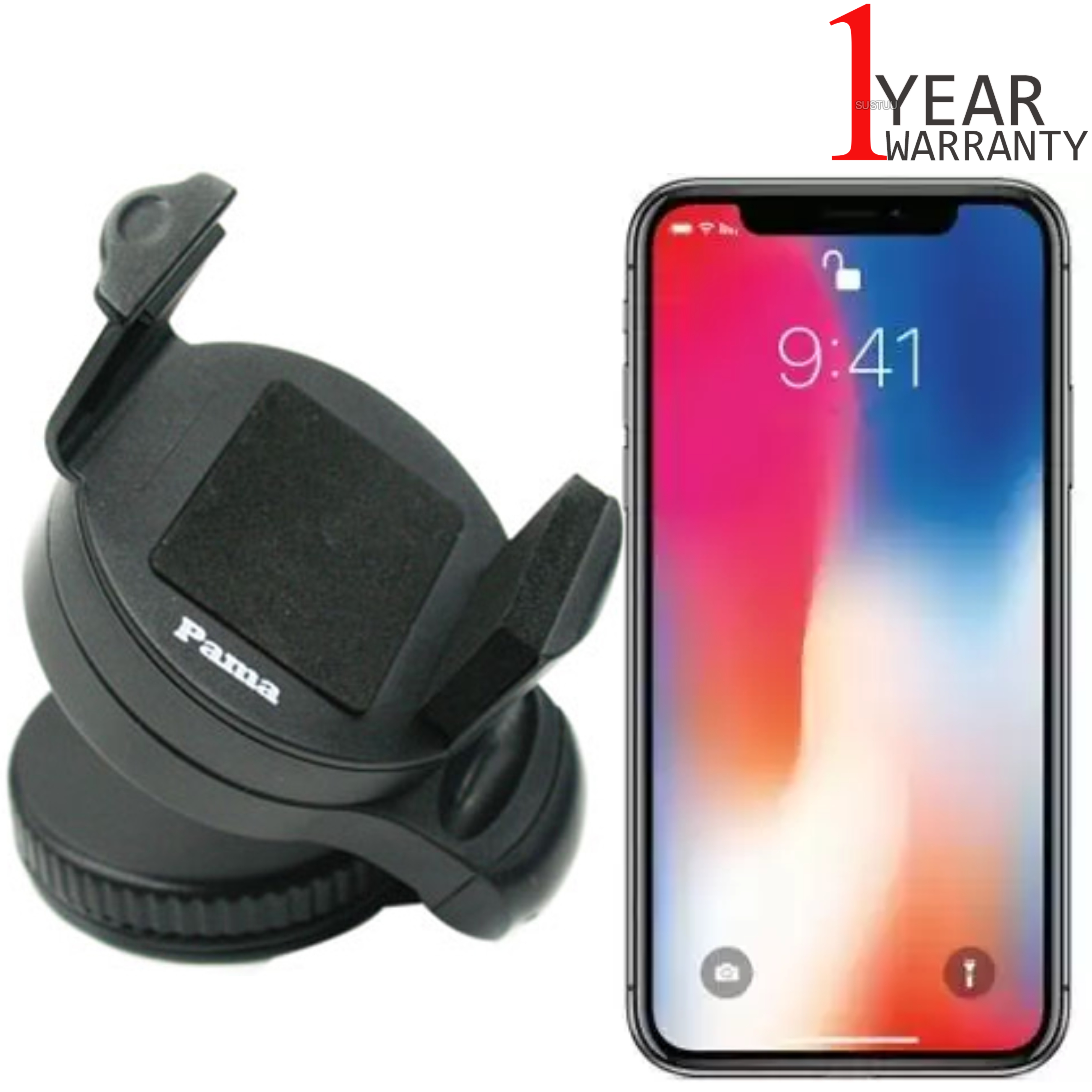 Universal In Car Windscreen Dash Mount | Holder/Cradle | For iPhone XS-XS Max-XR?Black