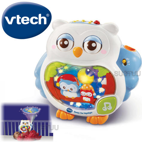 VTech Sleepy Owl Soothing Nightlight For Baby | Lullaby Mode + Remote Control | 0+M Thumbnail 1