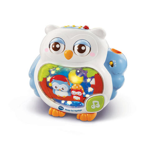 VTech Sleepy Owl Soothing Nightlight For Baby | Lullaby Mode + Remote Control | 0+M Thumbnail 2