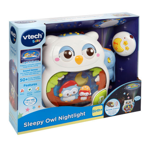 VTech Sleepy Owl Soothing Nightlight For Baby | Lullaby Mode + Remote Control | 0+M Thumbnail 5
