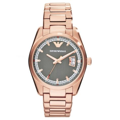 Emporio Armani Sportivo Ladies Watch | Grey Dial | PVD Rose Plated Strap | AR6020 Thumbnail 1