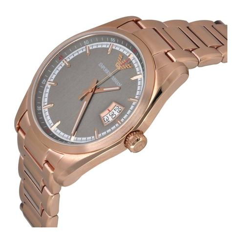 Emporio Armani Sportivo Ladies Watch | Grey Dial | PVD Rose Plated Strap | AR6020 Thumbnail 2