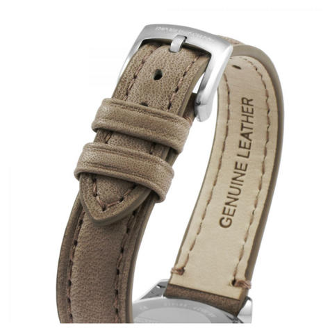 Emporio Armani Women's Watch?Round Cream Dial?Brown Leather Strap?AR6027 Thumbnail 2