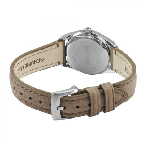 Emporio Armani Women's Watch?Round Cream Dial?Brown Leather Strap?AR6027 Thumbnail 3