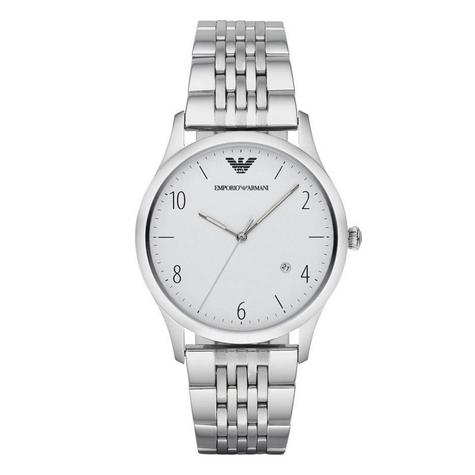 Emporio Armani Classic Men's Watch | Round White Dial | Stainless Steel Strap | AR1866 Thumbnail 1