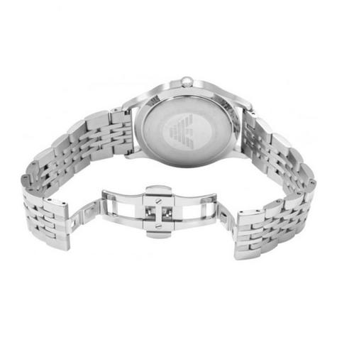 Emporio Armani Classic Men's Watch | Round White Dial | Stainless Steel Strap | AR1866 Thumbnail 2