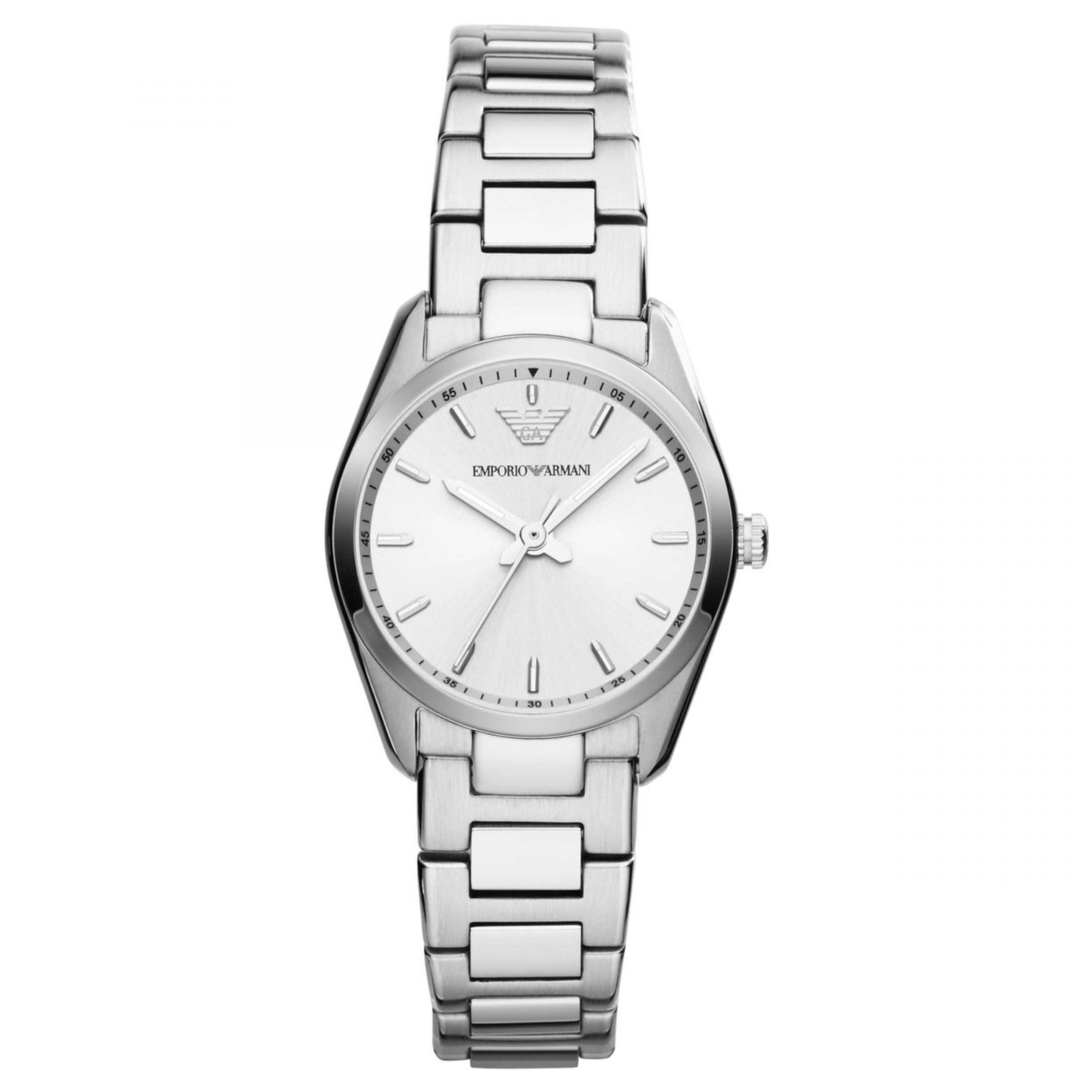 Emporio Armani Women's Formal Watch|Silver Case Round Dial|Bracelet Strap|AR6028