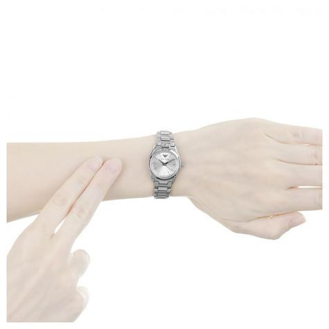 Emporio Armani Women's Formal Watch|Silver Case Round Dial|Bracelet Strap|AR6028 Thumbnail 4