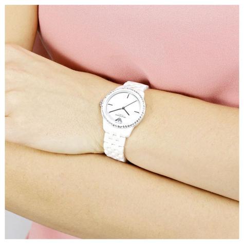 Emporio Armani Ladies' Watch|White Round Dial|White Ceramic Bracelet Band|AR1477 Thumbnail 2
