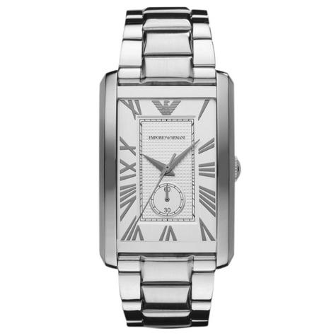 Emporio Armani Men's Watch|Rectangle Dial|Stainless Steel Bracelet Band|AR1607 Thumbnail 1