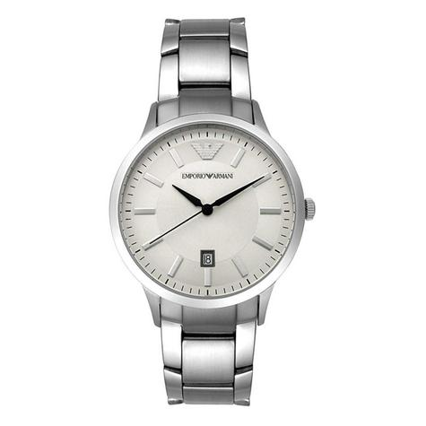 Emporio Armani Classic Men's Watch | Cream Round Dial | Stainless Steel Strap | AR2431 Thumbnail 1