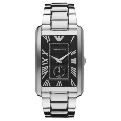 Emporio Armani Men's Watch|Rectangle Dial|Stainless Steel Bracelet Band|AR1608 Thumbnail 1