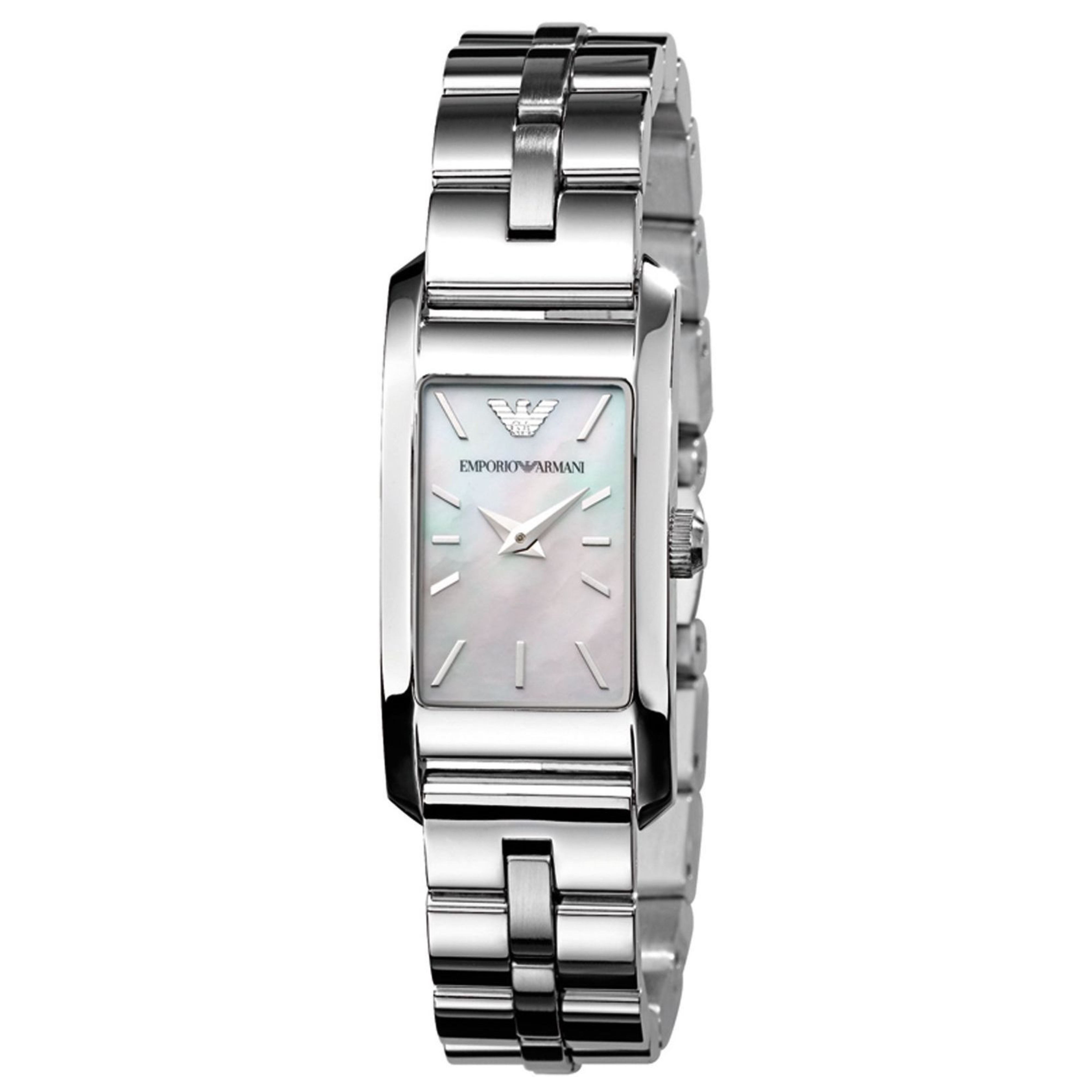 Emporio Armani Classic Ladies Watch | Mother of Pearl Dial | Stainless Steel | AR0733