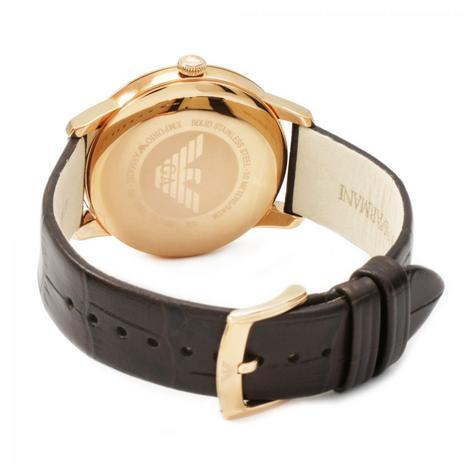 Emporio Armani Men's Watch|Roman Numerals Brown Dail|Brown Leather Strap|AR1613 Thumbnail 2