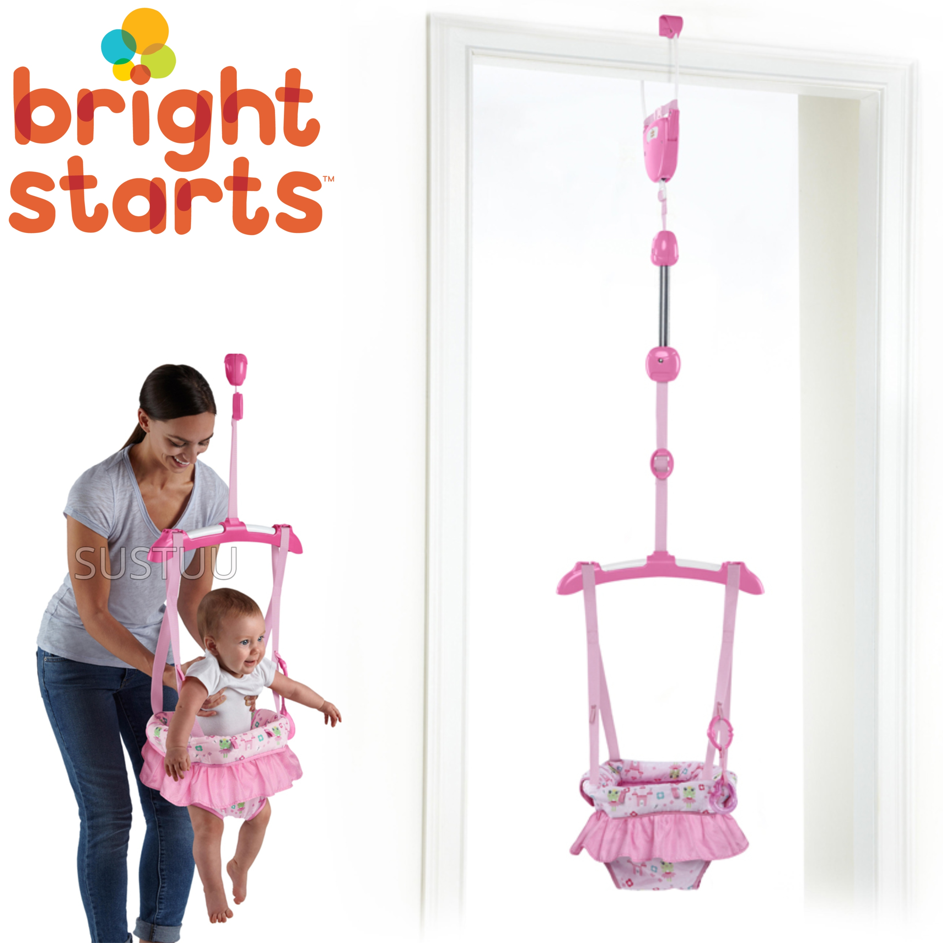 Bright Starts Door Jumper Fairy Tale Dreams /Hanging Bouncer | Padded Seat | +6 Months