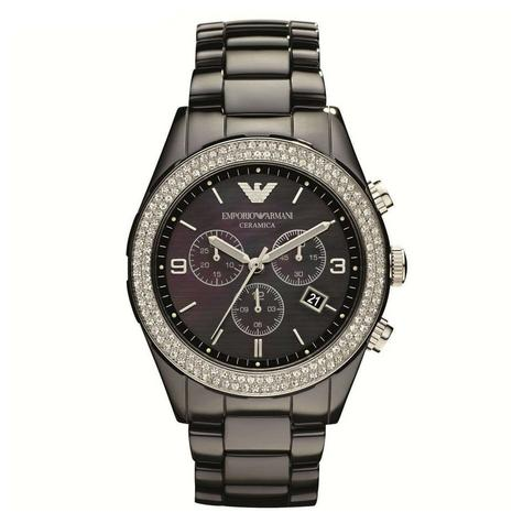 Emporio Armani Ceramica Ladies Watch | Mother of Pearl Dial | Ceramic Strap | AR1455 Thumbnail 1