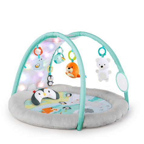 Bright Starts Activity Gym Arctic Glow | Baby/ kid's Playmat With Lights+Music | +0 Months  Thumbnail 2