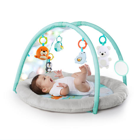 Bright Starts Activity Gym Arctic Glow | Baby/ kid's Playmat With Lights+Music | +0 Months  Thumbnail 4