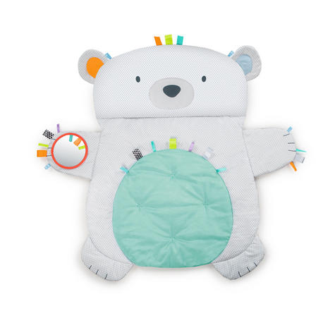 Bright Starts Tummy Time Prop and Play Bear | Baby's Tummytime Mat With Mirrorc | +0 Months  Thumbnail 4