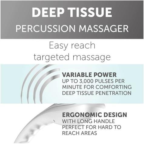 Wahl Deep Tissue Percussion Therapy Massager | 4 Extra Attachments | 2 Speed Settings Thumbnail 8