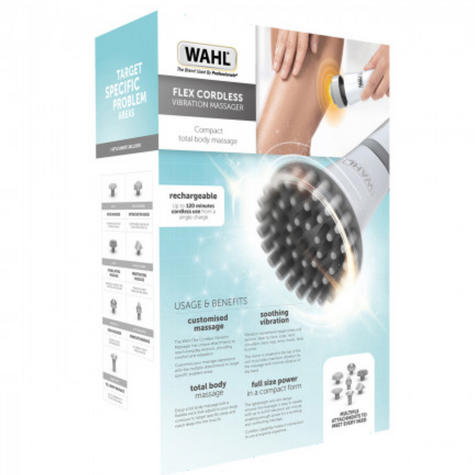 Wahl Flex Rechargeable Cordless Body Massager | 7 Attachments | Lightweight | WL42941M Thumbnail 3