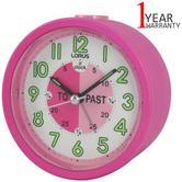 Lorus Time Teacher Bedside Beep Alarm Clock For Kids | Snooze | Lumibrite Hands | Pink
