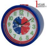 Lorus Time Teacher Bedside Beep Alarm Clock For Kids | Snooze | Lumibrite Hands | Blue