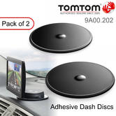 TomTom Adhesive Dashboard Mount Discs*2 | Universal | GPS/Sat Nav | For GO-Rider-TRUCKER-START