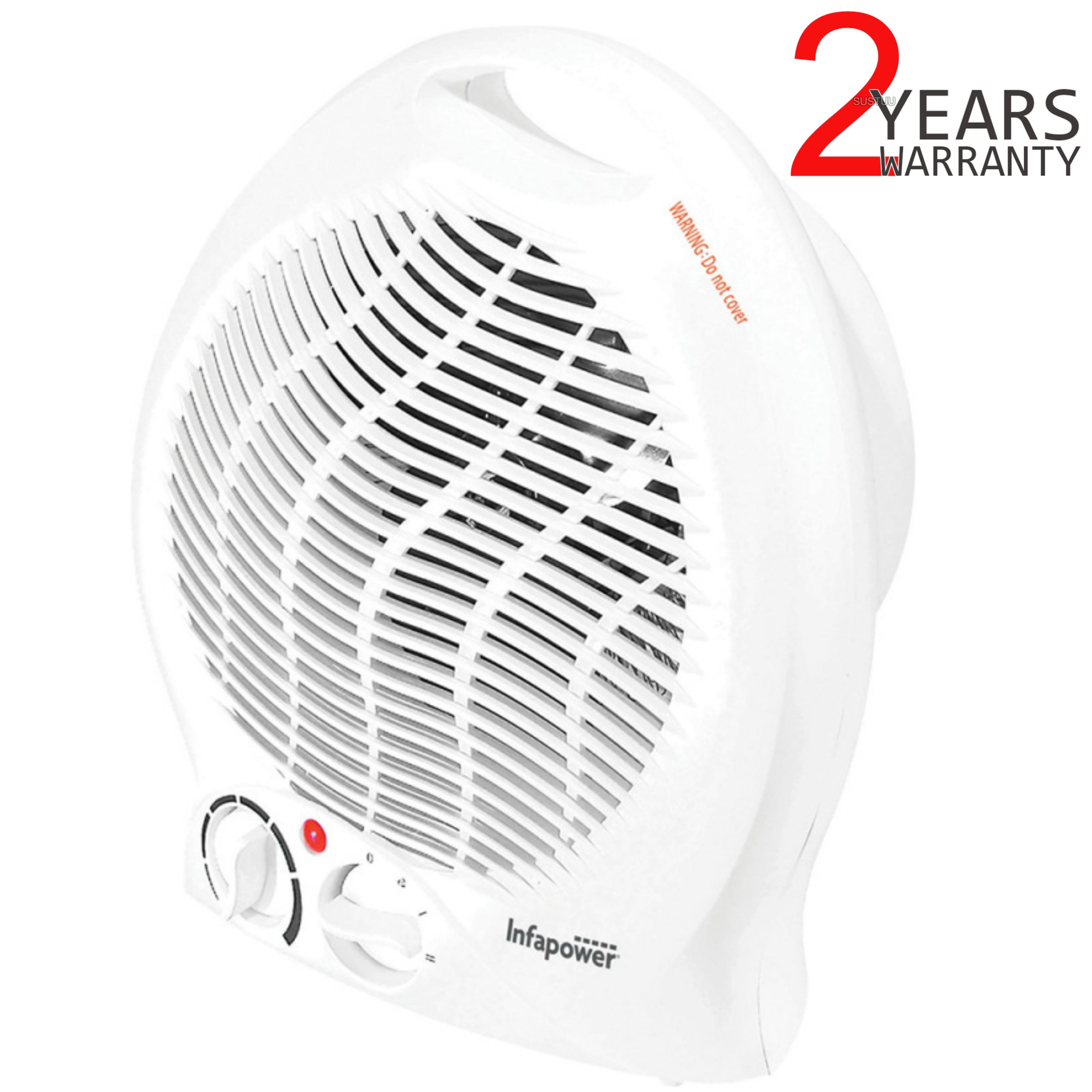 Infapower X401 Upright Turbo Fan Heater | 3 Modes?2000W | Overheat Protection | White