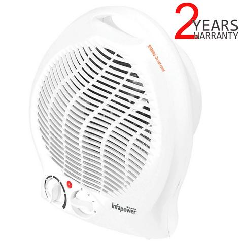 Infapower X401 Upright Turbo Fan Heater | 3 Modes?2000W | Overheat Protection | White Thumbnail 1