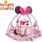 Bright Starts Disney Activity Gym Minnie Mouse | Baby's Tummytime/Playmat |  With Music | +0 Months