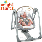 Ingenuity Boutique Collection Swing 'n Go Portable Swing | Kid's Jumper With Music | +0 Months