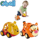 Oball Disney Go Cars Winnie the Pooh 2pk | Baby/ kid's Vehicle+Character Toy | +12 Months