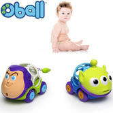Oball Disney Go Cars Toy Story 2pk | Baby/kid's Vehicle + Movie Character Toy | +12 Months