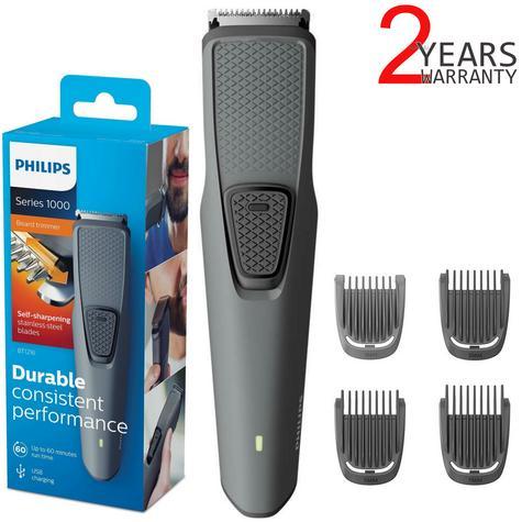 Philips BT1216/15 Series 1000 Beard-Stubble Trimmer | Cordless | USB Charging | Black Thumbnail 1