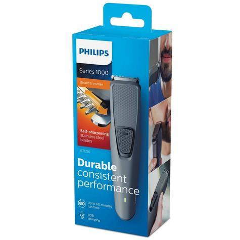 Philips BT1216/15 Series 1000 Beard-Stubble Trimmer | Cordless | USB Charging | Black Thumbnail 3