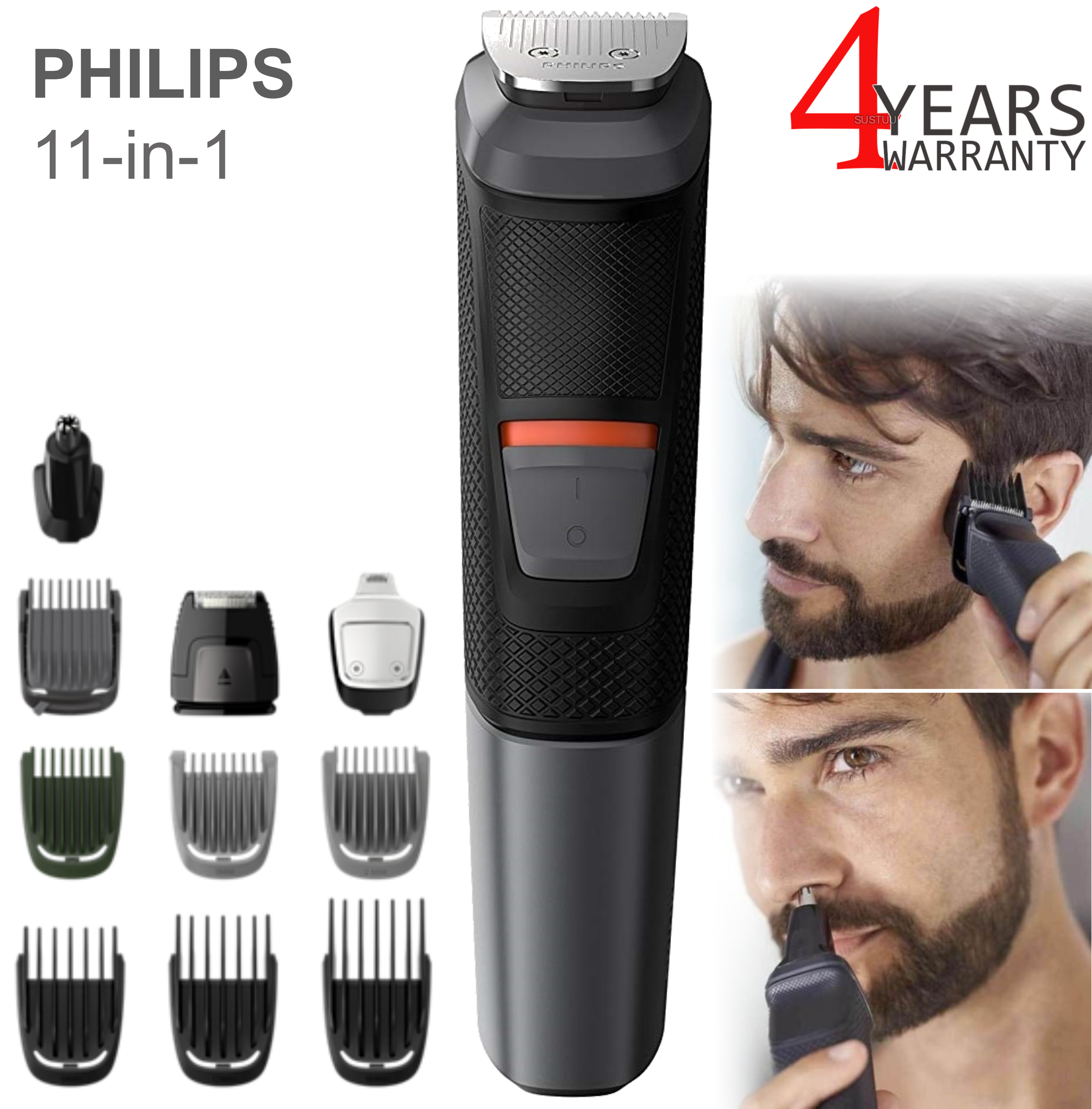 Philips Series 5000 11in1 Multi Grooming Kit | Beard-Hair-Body-Nose Trimmer | 573033