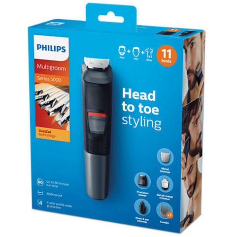 Philips Series 5000 11in1 Multi Grooming Kit | Beard-Hair-Body-Nose Trimmer | 573033 Thumbnail 3