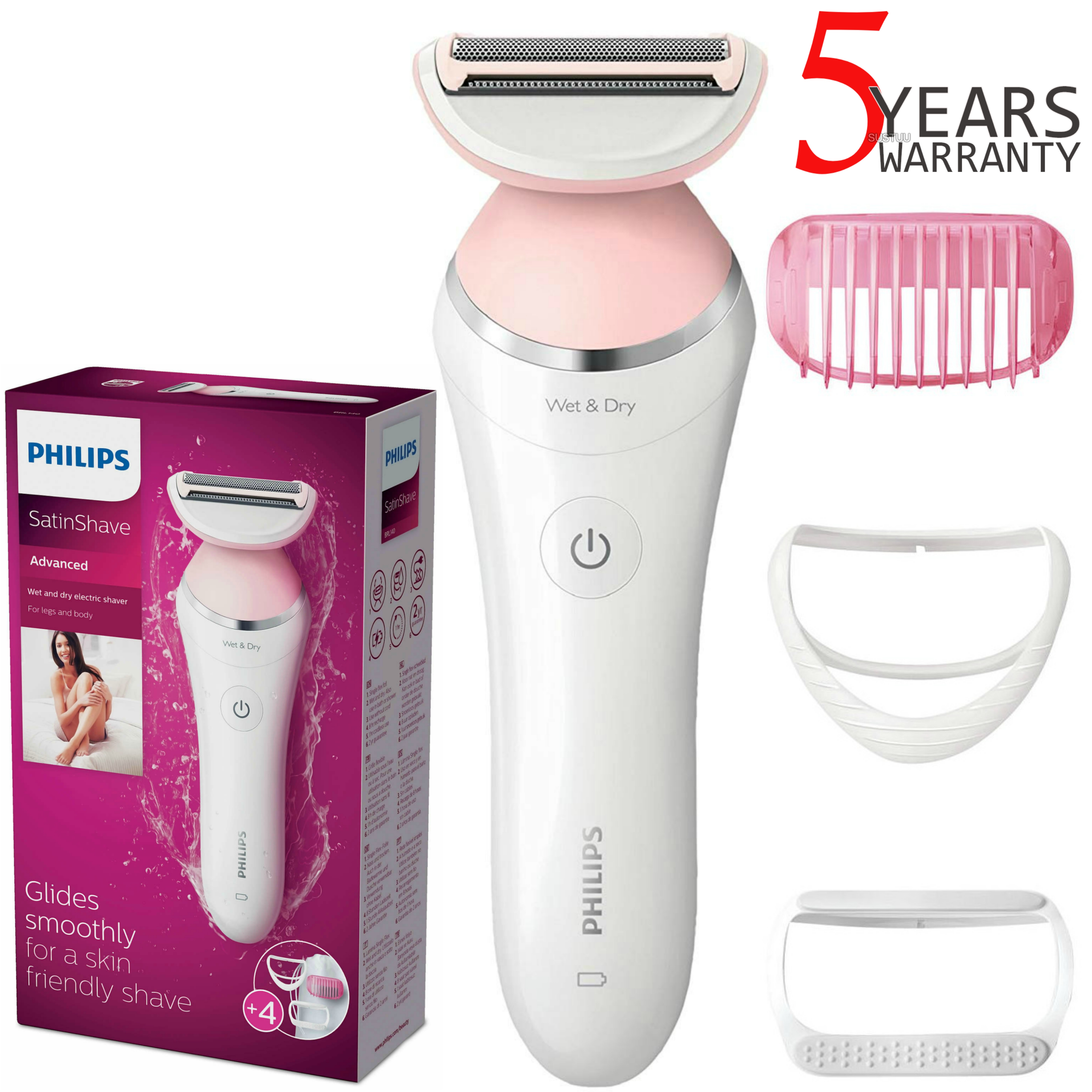Philips SatinShave Advanced Lady Shaver Hair Removal | Wet/Dry | Rechargeable | BRL140