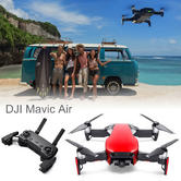 DJI Mavic Air Portable Drone with Controller | 12MP | 3-Axis & 4K Camera | Flame Red