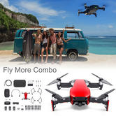 DJI Mavic Air Fly More Combo Portable Drone with Controller & Accessory Pack   3-Axis & 4K Camera   Flame Red
